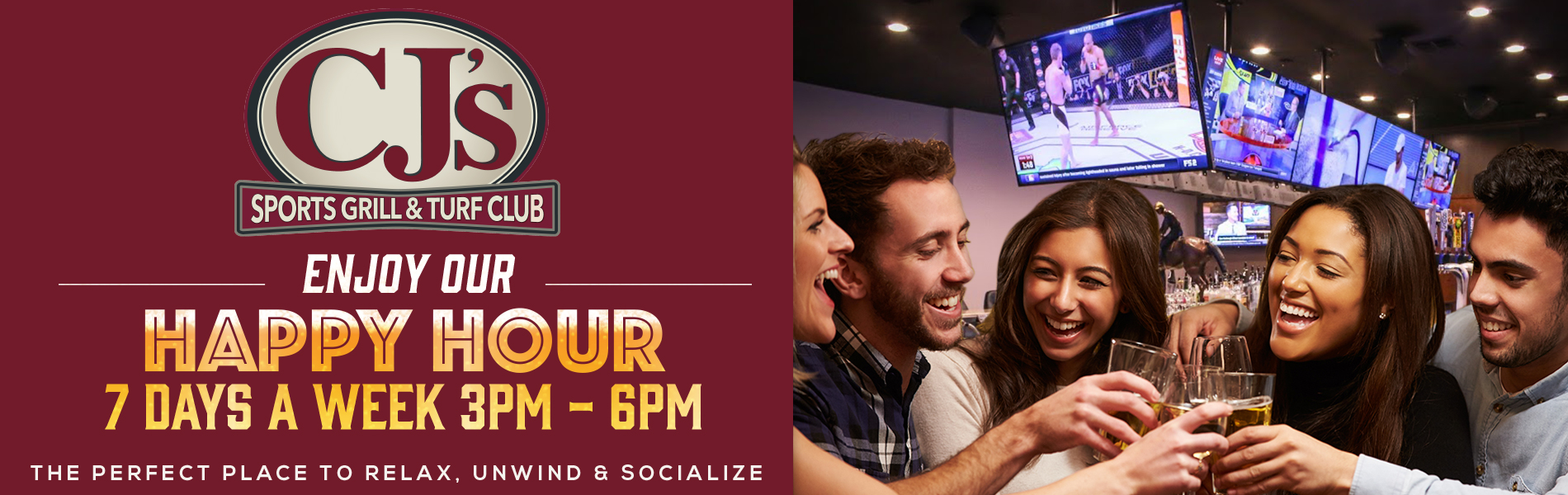 CJ's Sports Grill & Turf Club Happy Hour
